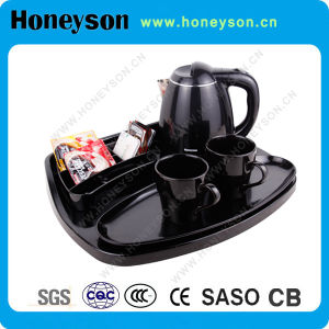 Plastic Electric Kettle with Welcome Tray Sets pictures & photos