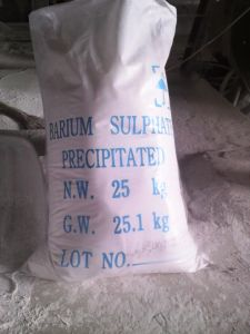 Precipitated Barium Sulphate (BaSO4) 98% Used on Paint&Coating Rubber&Plastic Areas