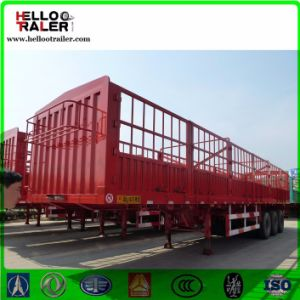 3 Axles 60 Ton Transport Fence Cargo Truck Trailer pictures & photos