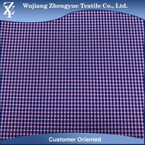 Polyester Nylon Spandex Checkered Plaid 4 Way Stretch Garment Fabric pictures & photos