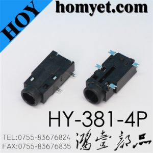 3.5mm 4 Pin SMD Type Phone Jack (Hy-381-4p) pictures & photos