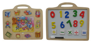Wooden Magnetic Puzzle Game Two-Sided pictures & photos