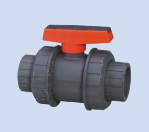 High Quality Plastic PVC Double Union Ball Valve for Irrigation pictures & photos