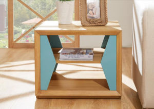 Solid Wooden Shelf Bedside Table Nightstand (M-X2078) pictures & photos