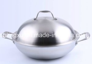 18/10 Stainless Steel Cookware Chinese Wok Cooking Frying Pan (SX-WO32-8) pictures & photos