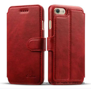 Premium Flip Leather Wallet Mobile Cell Phone Case for iPhone pictures & photos