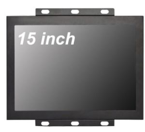 15 Inch LCD Monitor with 4-Wire Resistive Touch, Metal Housing pictures & photos