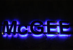Halo Lit Metal Letters for Signs pictures & photos