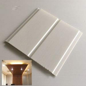 Middle Groove Light Weight PVC Panel Decoration Waterproof Material pictures & photos