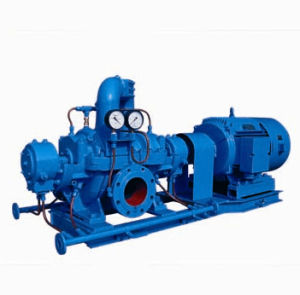 Double Suction Pump with Pressure Gage pictures & photos