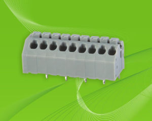 PCB Screwless Terminal Block Connector with Dual Row Vertical Pin Header pictures & photos