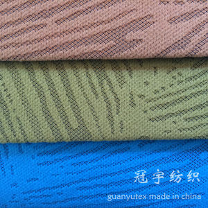 Burn out Corduroy Fabric Polyester and Nylon Compound for Decoration pictures & photos