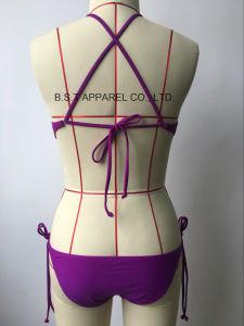 Sexy Ladies Crochet Two-Piece Bikini Swimwear (MQG-6148-1M) pictures & photos