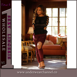 2016 Hot Sale Women Fashion Cotton Spandex Skinny Jeans (TXXL232) pictures & photos