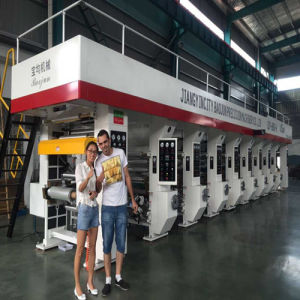 Six Color Aluminum Foil Gravure Printing Machine for Plastic Bag