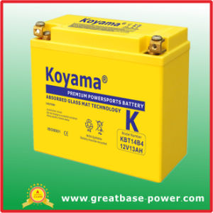 12V 13ah Motorcycle Battery (KBT14B4) pictures & photos