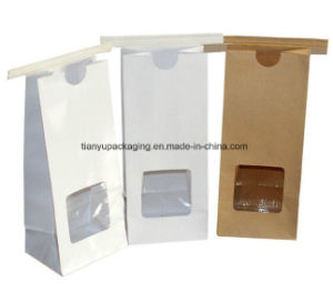 Stand up Pouch with Window White Kraft Paper Bag pictures & photos