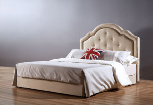High Head Board Modern New Fabric Bed (A20) pictures & photos