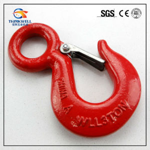 Forging Part Carbon Steel Eye Hoist Hook with Latch pictures & photos