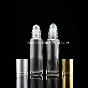 5ml 10ml Clear Amber Roll on Bottles with Roller for Perfume Use pictures & photos