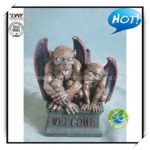 14.5 Inches Brownish Gray Color Resin Animal Decoration - Two Bat Mens