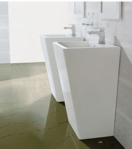 China Luxury Pedestal Ceramic Wash Basin CE-T2012 pictures & photos