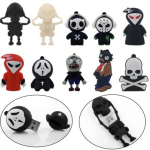100% Real Capacity New Arrival Fashion Creative Skull USB Flash Drive 8GB 16GB 32GB 64GB Flash Drive Memory Pen Drive pictures & photos