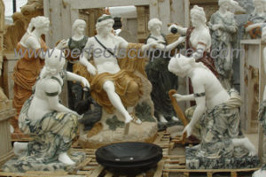 Carving Stone Marble Statue Sculpture for Garden Decoration (SY-X1722) pictures & photos