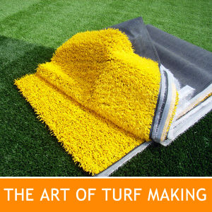 Yellow Artificial Grass for Sport Fields Marking