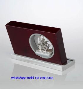 Business Souvenir and Giveaways Wooden Desk Clock with Pen K8033 Skeleton Clock Kit Gift Set pictures & photos