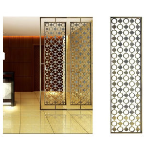 Laser Cut Decorative Stainless Steel Room Divider Screen pictures & photos