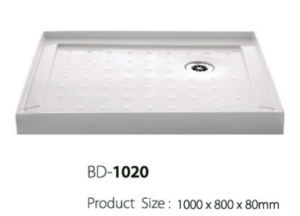 1 Meter Long Right Corner Three Flange Shower Tray (BD-1020) pictures & photos