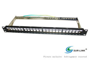 24 Port FTP Blank Patch Panel with Back Bar pictures & photos