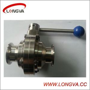 Sanitary Stainless Steel Butterfly-Type Ball Valve pictures & photos