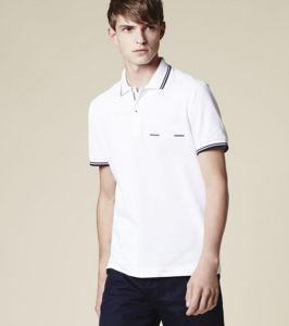 Bulk 100% Cotton New Model White Color Casual Men′s Polo Shirt pictures & photos
