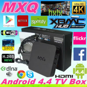 Quad Core Amlogic S805 TV Box Android4.4 Mxq Box with 4k Android Smart TV Box pictures & photos