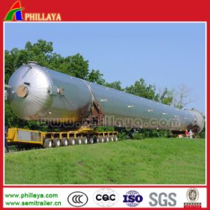 Rotary Axles Transport Steel Pipe Lowbed Trailer pictures & photos