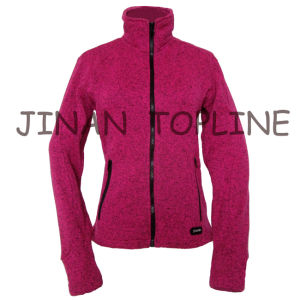 Women Fashion Long Sleeve Bicolour Micro Fleece Softshell Jacket pictures & photos