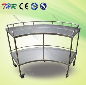 Medical Fan Shaped Instrument Trolley pictures & photos