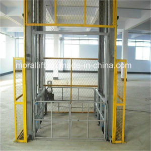 Heavy Loading Vertical Cargo Hydraulic Guide Rail Lift pictures & photos