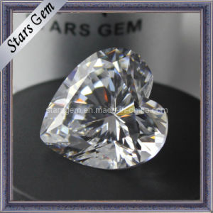 Heart Shape Synthetic Gemstone Cubic Zirconia CZ Stone pictures & photos