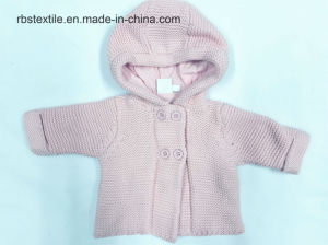 Baby Girls Lined Hooded Cardigan pictures & photos