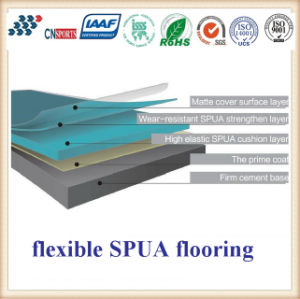 Cn-C01 High Tenacity and Resilience Flexible Spua School Flooring pictures & photos
