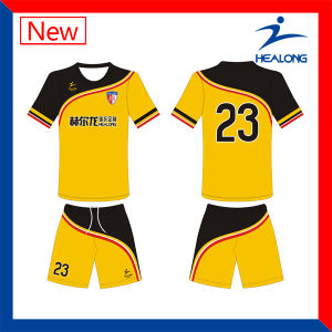 Healong Customized Breathable Sublimation Soccer Kits With Different Style pictures & photos