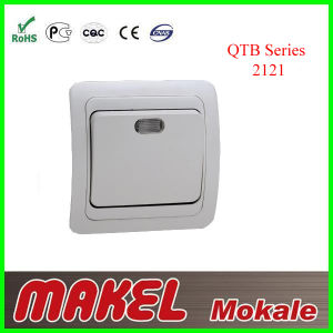 Two Gang Two Way Switch with Lamp 5145 pictures & photos