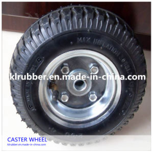 Fixed Heavy Duty Roller Bearing Pneumatic Rubber Caster Wheels pictures & photos