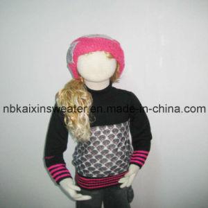 Girl′s Turtleneck Angora Pullover Sweater (KX-CG66)