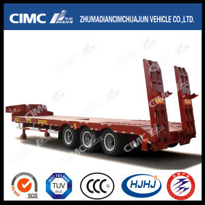 11-20m 3axle Lowbed Semi Trailer (carry machinery equipment) pictures & photos