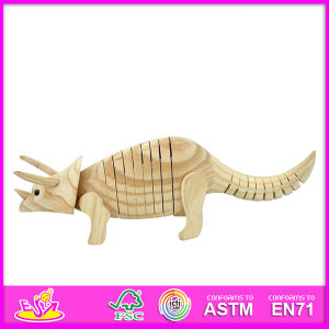 2015 New Triceratops Style Children Toy Paint, Popualr DIY Wooden Children Toy Paint, Educational Children Toy Paint W03A026 pictures & photos