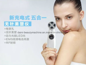 LED RF 5 in 1 Colors Skin & Electroporation Rejuvenation Anti-Aging Face Beauty Massager Us and EU Plug Facial Massager pictures & photos